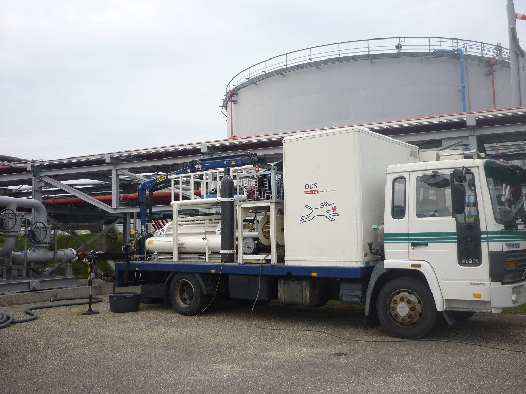 compact prover on truck