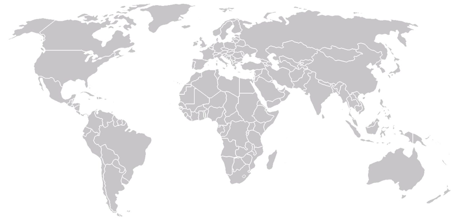 ODS Metering Systems offices on the worldmap
