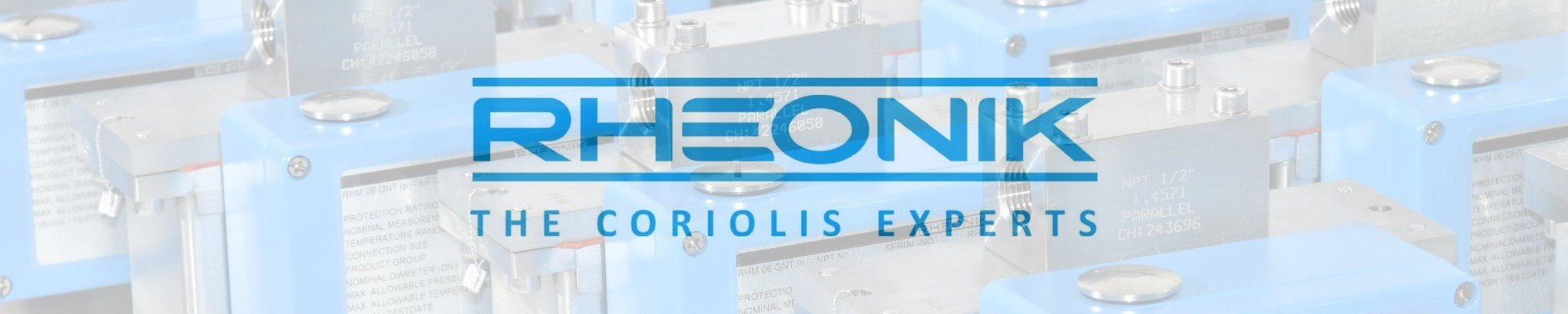Rheonik Coriolis flow meter - ODS web page header