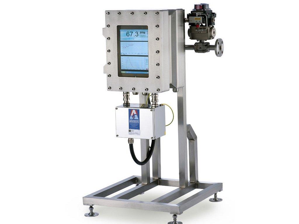 Fluorescentie meetprincipe. Voor bepaling van het minerale olie gehalte en/of het condensaatgehalte in geloosd water.